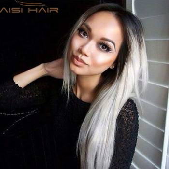 Ombre grey wigs 26 women s synthetic wig long straight hair ombre wigs for black women.jpg 350x350