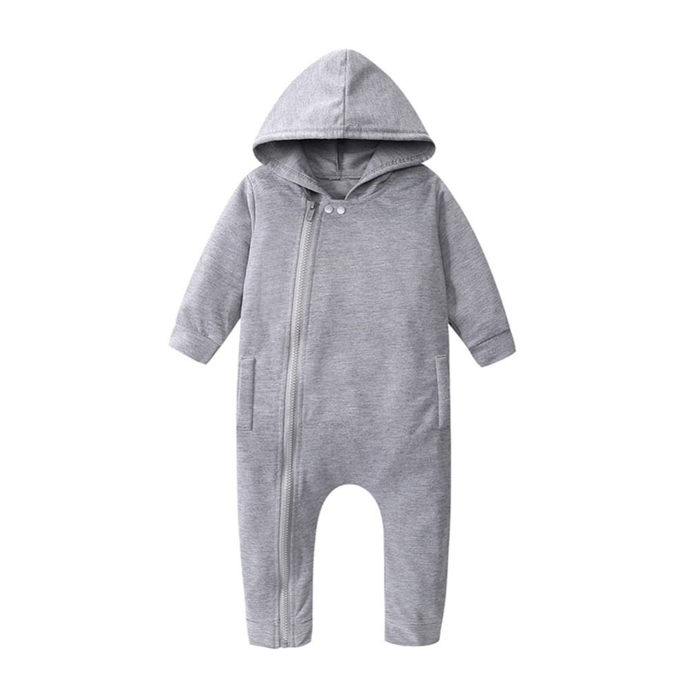 Baby Romper Kids Baby Boys Girls Long Sleeve Cotton Hoodie Zipper Romper Jumpsuit Outfit Clothing Spring,Autumn,Winter FCI# 2016 baby boys girls romper bamboo print toddler long sleeve infant clothing rompers fashion cotton unisex zipper romper