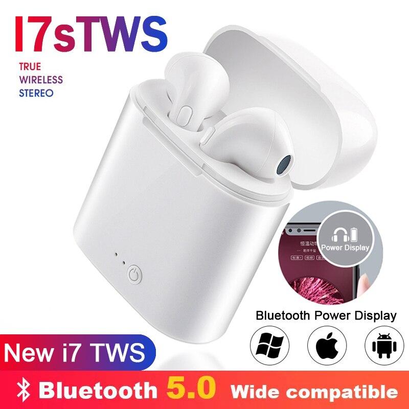 I7s TWS Wireless Headphones Bluetooth Air Earphone Mini In Ear Stereo Earbud Headset With Charging Box For IPhone Xiaomi Huawei