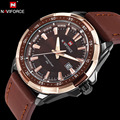 Naviforce marca de luxo original moda esporte relógio de quartzo homens relógio de pulso de couro à prova d' água relógio militar relogio masculino