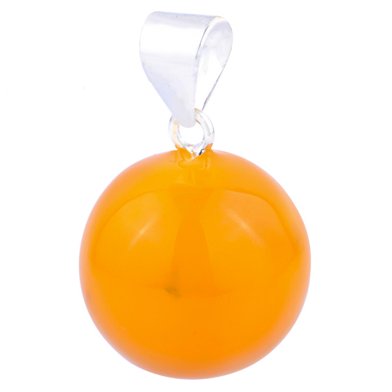 20MM Fashion Jewelry Color Harmony Ball Pendant Best Gifts Round Sealed Mexican Bola Pendant For Women
