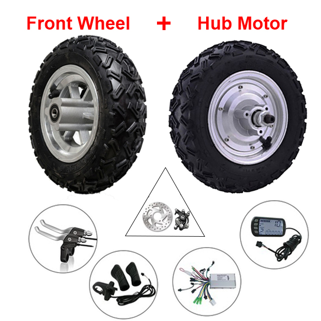 Hub Motor Kit 10 inch 24-48v 350w-800W 12-50km/h Electric Scooter Wheelchair E-Bike Wheel Motor With Reversing Front Wheel economic multifunction 60v 500w three wheel electric scooter handicapped e scooter with powerful motor