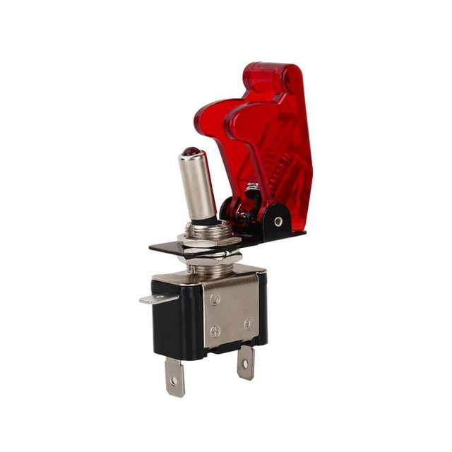 1 PCS Cor Vermelha 12 V 20A Car Auto Capa Led SPST Rocker Toggle Switch Controle On/Off durável 2016 Novo