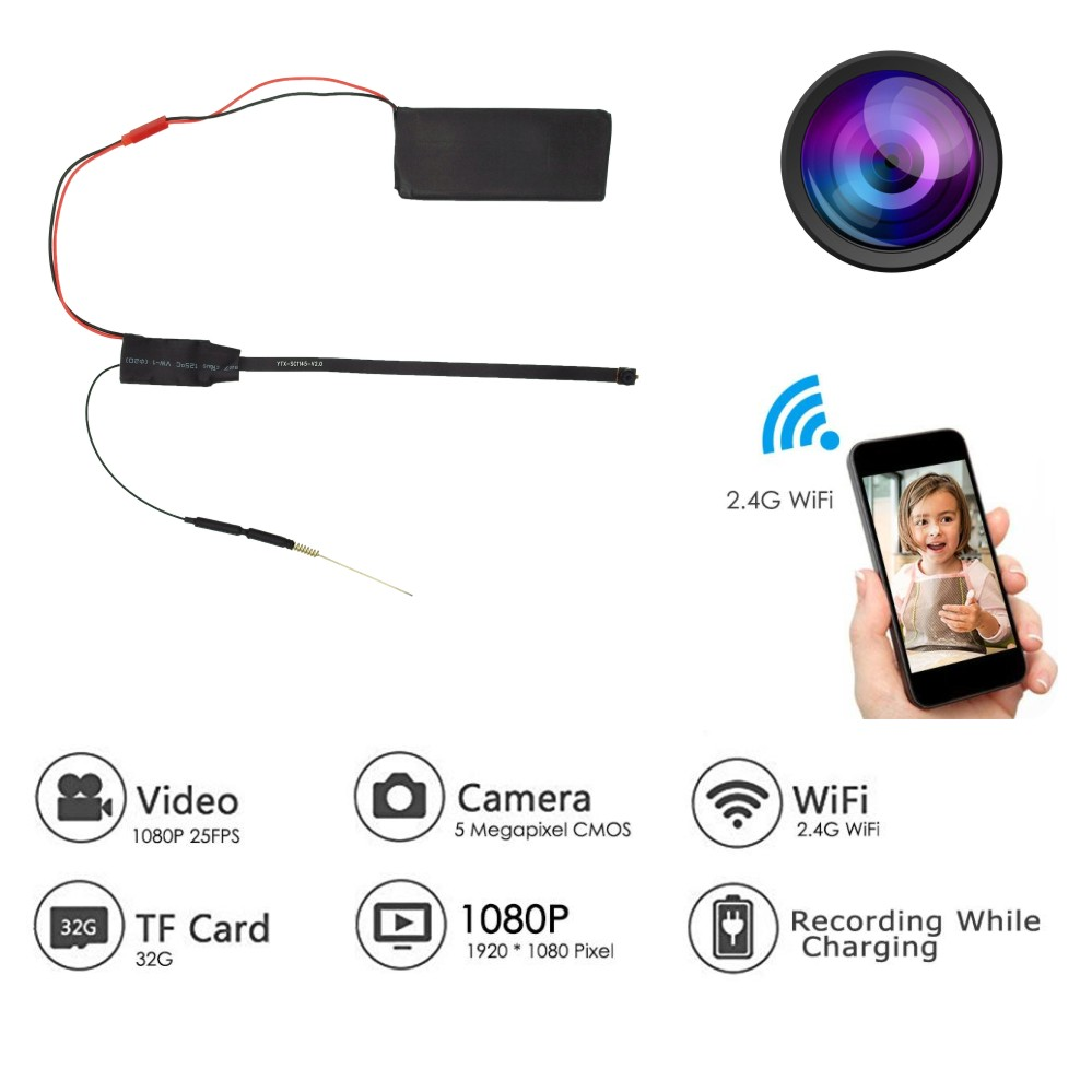 DIY WiFi Camera HD1080P Mini P2P Camera Video Geluidsopname - Camera en foto