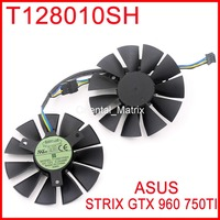 2pcs/lot T128010SH 12V 0.25A 85mm 39x39x39mm with 4 Pins For Asus STRIX GTX960 GTX750TI Graphics Card Cooler Fan
