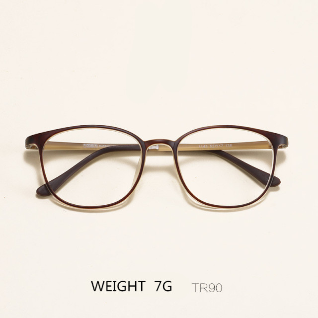 859b50485d Student TR90 Retro Fashion Glasses Frames Ultra-light Prescription Frame  Literary Decoration Clear Len Myopia Eyeglasses Eyewear