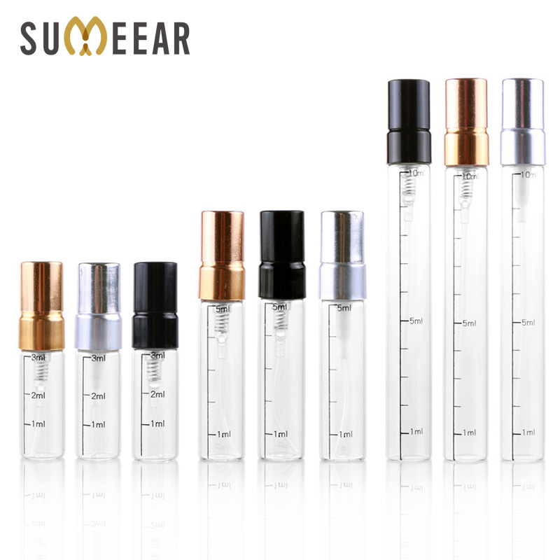 100Piece/Lot Refillable Perfume Bottle Empty Spray Bottle Aluminium Perfume Bottles Atomizer Cosmetic Travel Container Perfumes