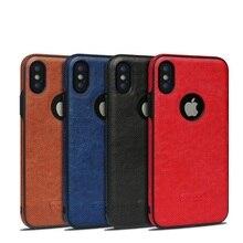 Кожаный чехол для iPhone XS Max XR 6 7 8 Plus красный коричневый черный цвет противоударный чехол противоударный Бизнес Стиль работы