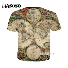Buy sweatshirt world map and get free shipping on aliexpress liasoso 2018 summer harajuku cartoon world map tshirt 3d print t shirt hoodie gumiabroncs Images