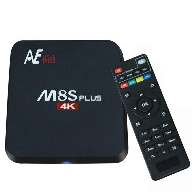ANEWKODI m8s android tv box M8S PLUS + Quad-Core Smart TV Amlogic S905 KD 16.0 4 K 2G/16G WI-FI Full HD Android 5.1 Mídia jogador