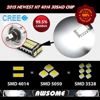 High Quality 4x H7 CREE Chips 30SMD 4014 LED CANBUS Car Truck Fog DRL Daytime Running