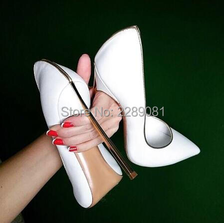 081caf77395 LTTL Work Women Pointed Toe Pumps Blade Metal High Heels Red Beige Stilettos  Court Heeled 12 cm Pumps Chaussure Femmes