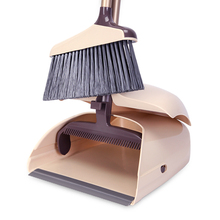 Dustpan  Lobby Broom Combo 3 Foot Overall Height Ergonomic Dustpan and Telescoping Handle