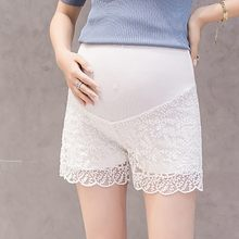 Women Clothes 2019 Plus Size Maternity Pants Summer Stretch Wear Polyester Pregnant Lace Safety Shorts Soft Maternity Trousers(China)