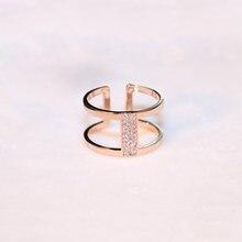 Женское Открытое кольцо с двумя кольцами цвет розовое золото