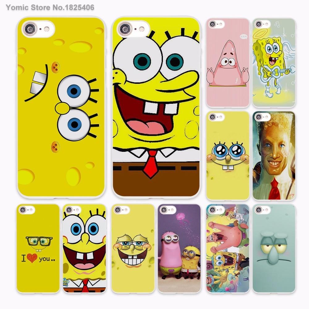 Patrick Queen Spongebob Stars Design hard White Skin Case for Apple iPhone 6 6s Plus 7 7Plus SE 5 5s 5c phone case