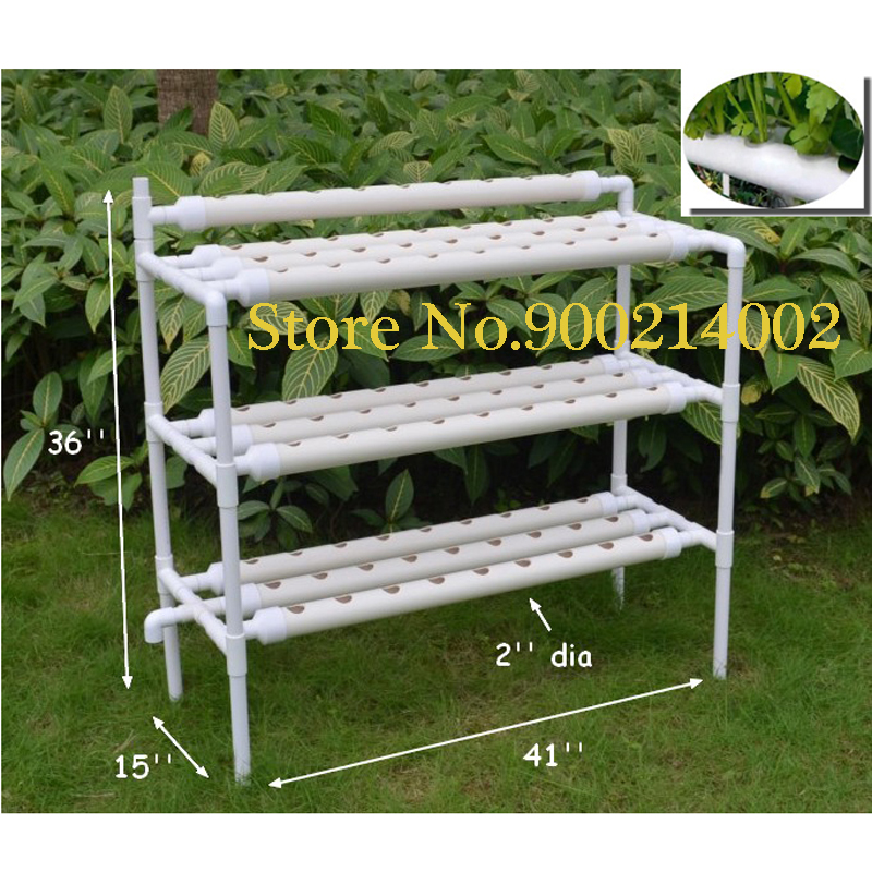 INTBUYING Hydroponic Site Grow Kit 90 Site System with Nest Basket Water Pump and Sponge Plant