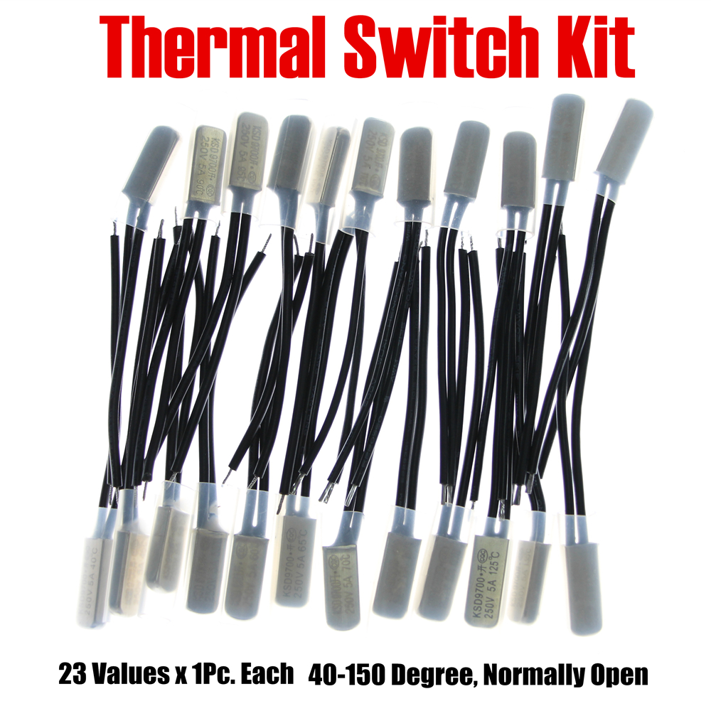 цена на PHISCALE Metal Thermal Protector Kit 23Values x 1Piece 40-150 Degree Normally Open KSD9700 5A 250V