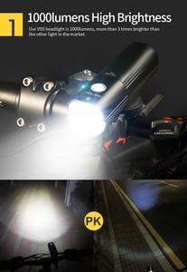 Image 3 - Phare de vélo de vélo GACIRON étanche 1000 Lumens vtt vélo Flash lumière avant torche LED chargeur portatif léger accessoires de vélo