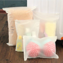 Swimming Bags Matte Frosted Travel Pouch Swimming Bag Sealed Waterproof Transparent Ziplock Bag For Clothing Bras Shoes New(China)