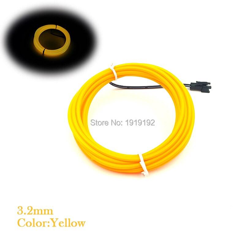 Coloré 20 mètres 3.2mm EL câble de Tube de fil Powerd par 8-AA Batteries Flexible néon lumière froide fête décor avec conducteur de fond 12 V