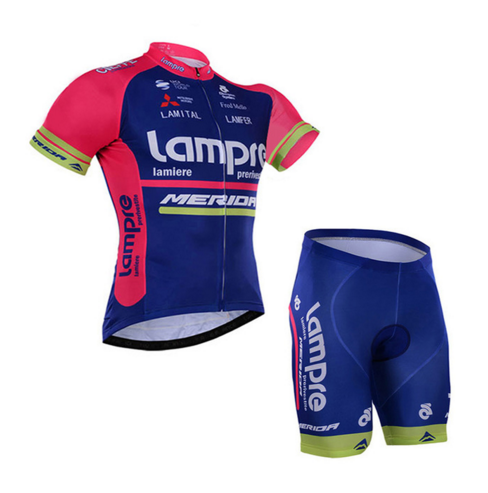 2017 New Summer Short Sleeve Cycling Jersey Quick Dry Team Bahrain Lampre  MERIDA Ropa Ciclismo 60bfc43fc