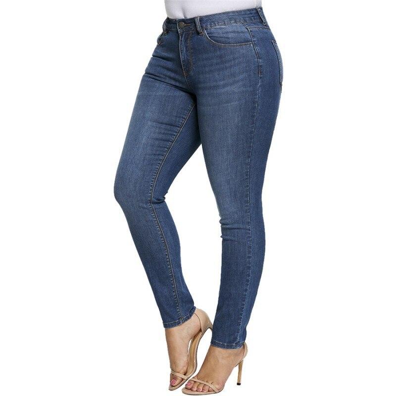Women Plus Size Jeans Skinny 5xl Women High Waist Elastic Mom Jeans Casual Hot Sale Blue Streetwear Jeans Woman Spring Fashion