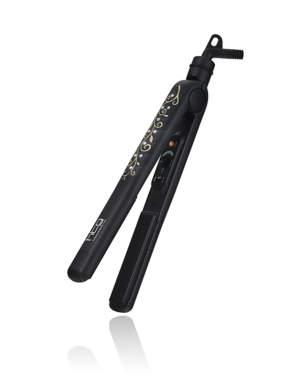 Professional Hair Straightener Hair Straightening Iron Hair flat rron and Curling iron +Diamond on body HT062