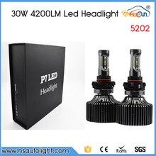 P7 New one set 5202 60W/Set 4200LM LED Car Auto 6000K White Fog DRL Driving Headlight Lamp Bulbs