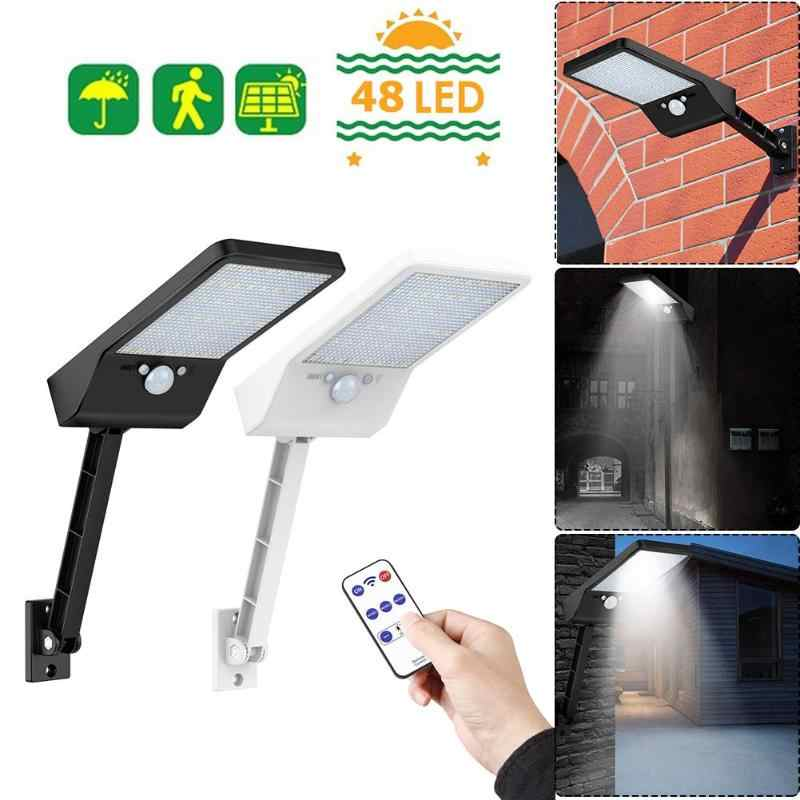 Upgraded 48 LED Remote Control Solar Light PIR Motion Sensor IP65 Outdoor Wall Street Lamp Waterproof Lamp Lights