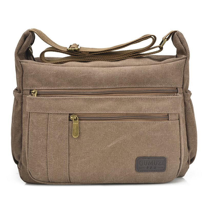 Hot Men/'s Vintage Canvas Schoolbag Satchel Shoulder Messenger Bag Laptop Bags
