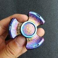Seiko Rotablade Fidget Spinner Metal Titanium Alloy Colorful Finger Spinner EDC Toys Tri Spinner Hand Spinner