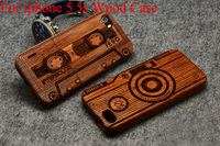 High Quality 100 Natural Bamboo Wood Case Cover For Iphone 5 Wooden Carving Hard Back Case