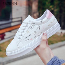 ARSMUNDI 2018 Shoes woman new fashion casual platform leather classic cotton women lace-up white shoes sneakers M88