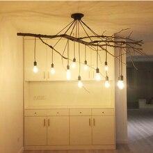 Araña lámpara colgante vintage DIY E27 arte araña lámpara colgante hogar luz ajustable creativa lámpara colgante AC110-240V