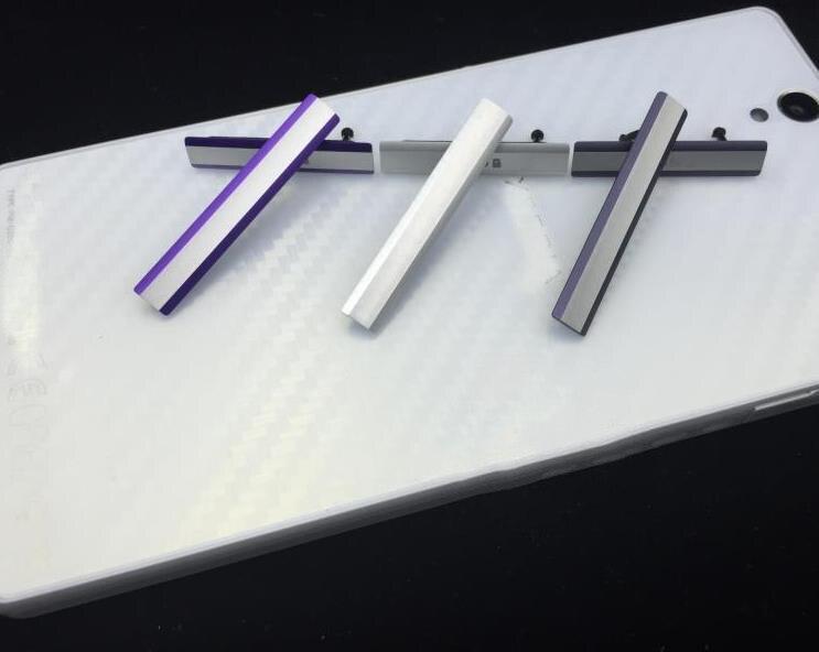 À prova dmicro água micro sd cartão flap poeira plug cove + usb carregamento slot porta poeira plug bloco capa usb caso para sony xperia z2 d6503