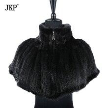 2017, Новая мода вязание норки шарф воротник утолщение мех Плащ шаль
