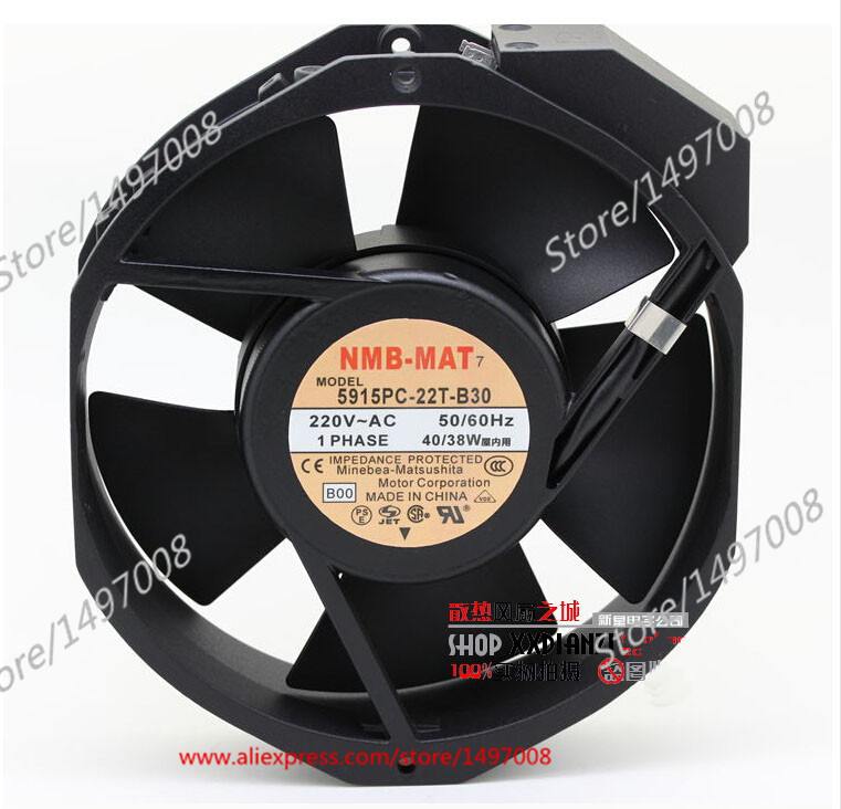 NMB-MAT 5915PC-22T-B30, B00 AC 220V 40W , 172x150x38mm Server Square fan free shipping nmb cooling fan 3610ps 22t b30 220v instrumentation axial 92 92 25mm page 1
