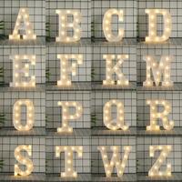 Criativo luminoso led carta luz da noite inglês alfabeto número lâmpada festa de casamento decoração para casa acessórios|Letras e números decorativos|Casa e Jardim -