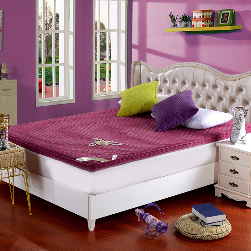 Three dimensional thickening coral velvet mattress Double sided four seasons folding bed mattress bed product