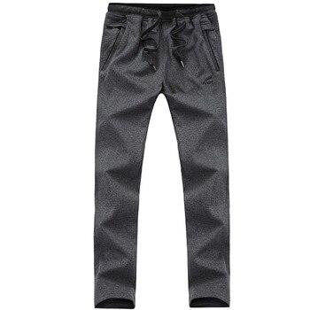 New Arrival Loose Men's Black Pants Casual Fashion100% Cotton Breathable Style Trousers Male Sweatpants Big Size 5XL 4