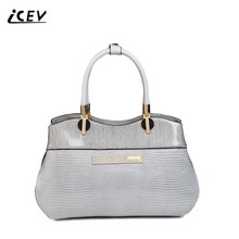 ICEV European Fashion Luxury Handbags Women Bags Designer High Quality Patent Leather Serpentine