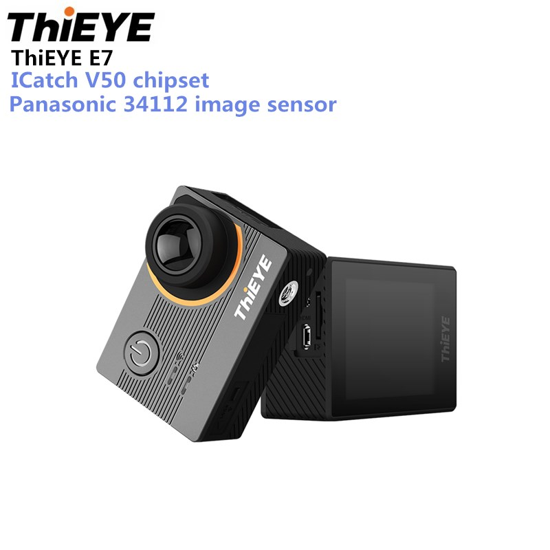 Thieye E7 Sport Action Camera ICatch V50 Sport Camera 2.0 Inch LCD Diving WiFi 4K 30FPS EIS 170 FOV Voice Control Action Camera