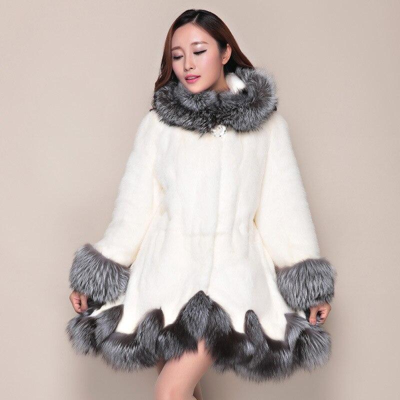 D'hiver Grande 2018 Veste Haut Femmes Femelle Fausse En Manches parleur noir Fourrure Manteau Chapeau 4xl Taille Artificielle Particulier Luxe Blanc De Manteaux Er7xwYrqP