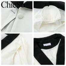 White v neck office ladies cape blazer