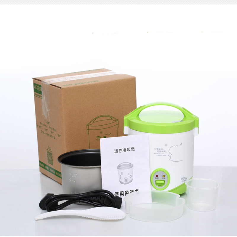 1L Mini Student Rice Cooker Cooking Pot For Home/Car/Truck Lunch Box Kitchen Food Container Steamer