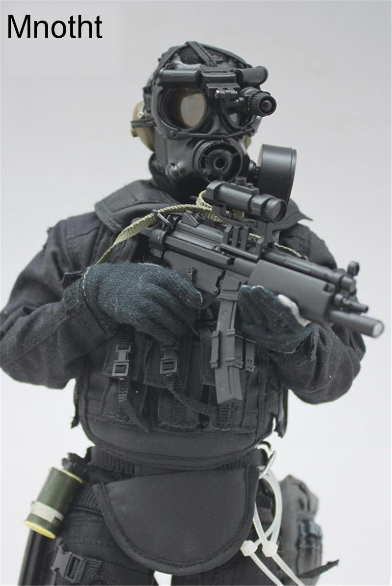 Mnotht 16 Male Solider Swat Sniper Suit Set Clothes Military Weapon