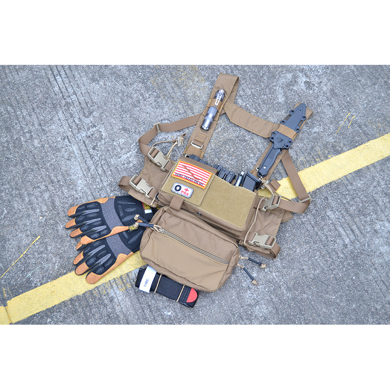 Chassis MK3 Mini Tactical Chest Rig Spiritus Airsoft Hunting Vest Ranger Green Military Tactical Vest w/ Magazine Pouch TW-CR03 outdoor hunting tactical chest rig adjustable padded modular military vest mag pouch magazine holder bag platform