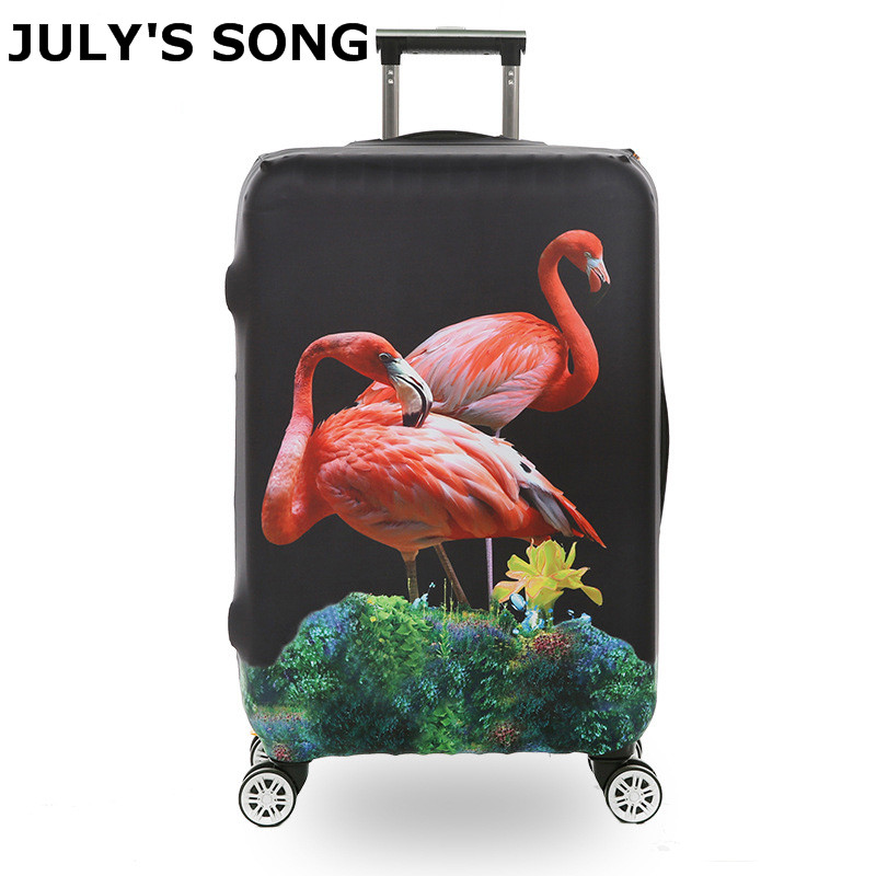 JULY'S SONG Travel Luggage Suitcase Protective Cover Apply For 18 To 32inch Luggage Case Elastic Cartoon Suitcase Cover