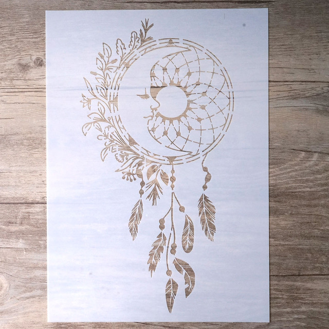 Us 1 79 10 Off A4 A3 A2 Diy Craft Layering Dreamcatcher Stencil For Walls Painting Scrapbooking Stamping Album Decorative Embossing Paper Card In
